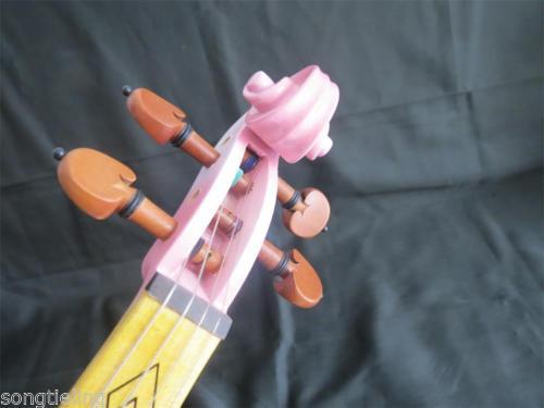 Best model fancy SONG Brand Crazy-1 art streamline pink 4/4 electric violin enlarge
