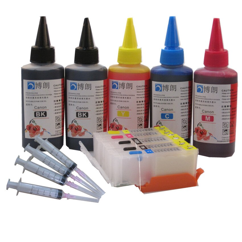 Многоразовый чернильный картридж для CANON PIXMA MG5770 MG6870 TS5070 TS6070 + 5 цветов, 500 мл, PGI-770 770 771