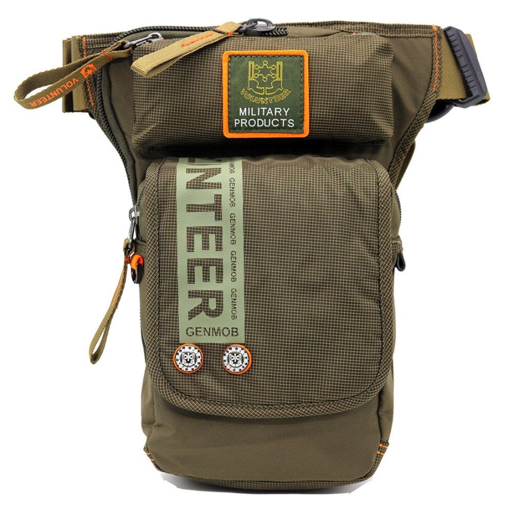 Bolsa cartuchera de cadera Oxford de alta calidad para hombres, cinturón de viaje para motociclistas, riñonera, riñonera, bolsas de muslo para asalto militar