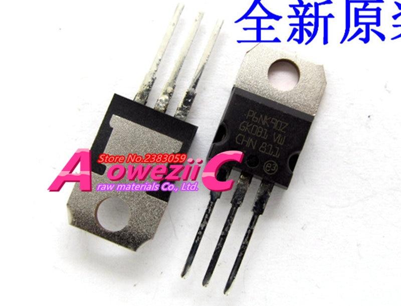 P6NK90Z STP6NK90Z Aoweziic 100% novo importado originais TO-220 6A 900 v transistor STP6NK90ZFP P6NK90ZFP TO-220F 6A 900 v