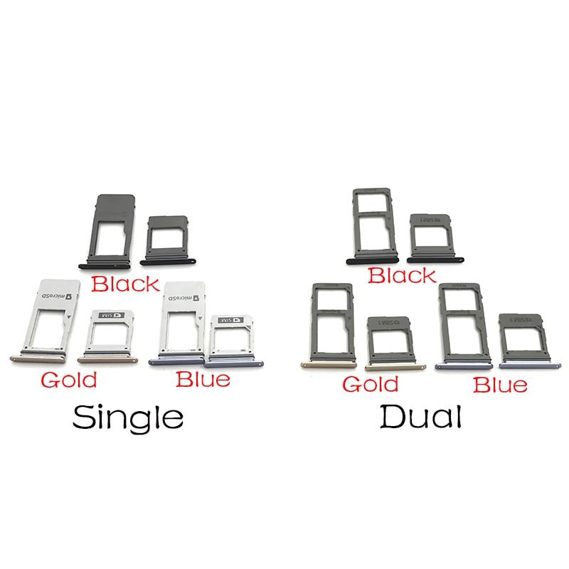 Adaptador de soporte de tarjeta SIM Dual 20 piezas + bandeja de ranura para tarjeta Micro SD para Samsung Galaxy A8 2018 A530