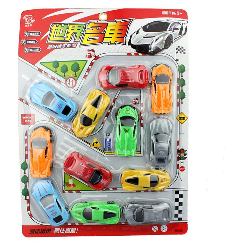 Eva2king 12 unids/pack modelo de plástico juguetes de combate accesorios de aeropuerto coches camión de bomberos juguetes de vehículos de construcción para regalos para niños