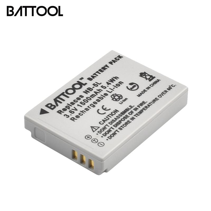 Аккумулятор batcool 1500 мАч NB-5L для Canon S100 SX210 SX220 SX230 HS SD800 SD850 SD900 SD950 IS SD970 IS SD990 IS