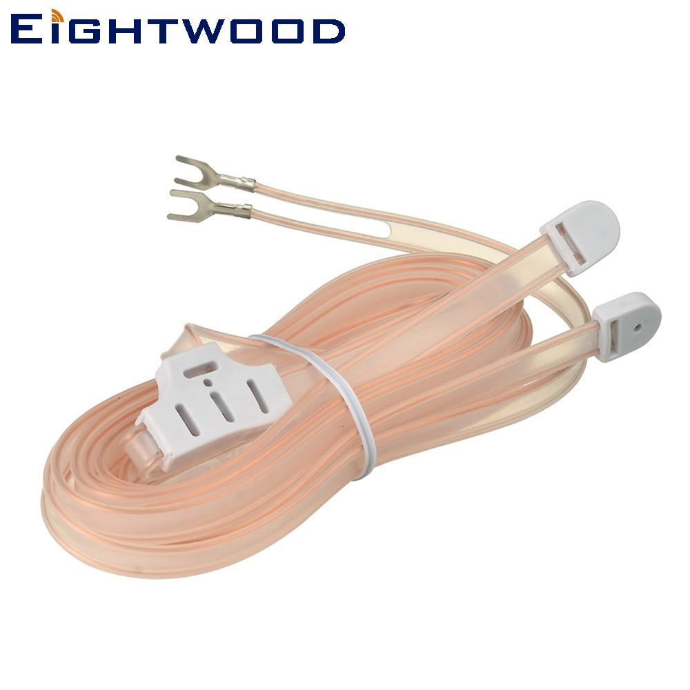 Eightwood FM Dipole Antenna 300 Ohm mit 2 Pin Bare Draht Twin Lead für AV Audio Vedio Home Theater Empfänger HDTV TV Tuner