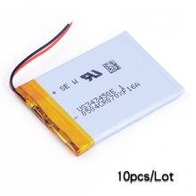 10 uds/Lo 343450 3,7 V 550mAh litio li-polímero batería recargable para teléfono MP4 MP5 GPS PSP DVR E-Book altavoz Juguetes