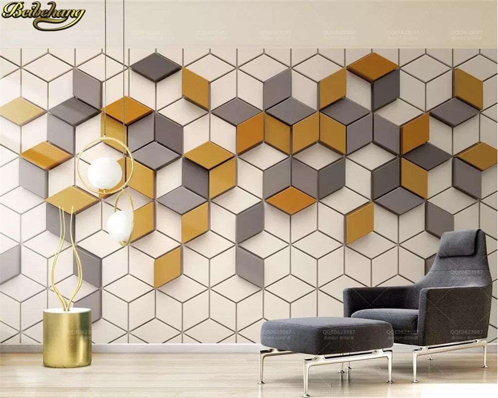 beibehang Custom photo 3d wallpaper mural simple ginger mosaic mosaic modern 3d TV background wall papers home decor слингобусы mosaic simple