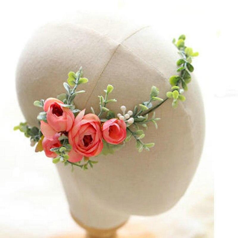 Diadema de flor Rosa verde para novia, accesorios para el cabello de...