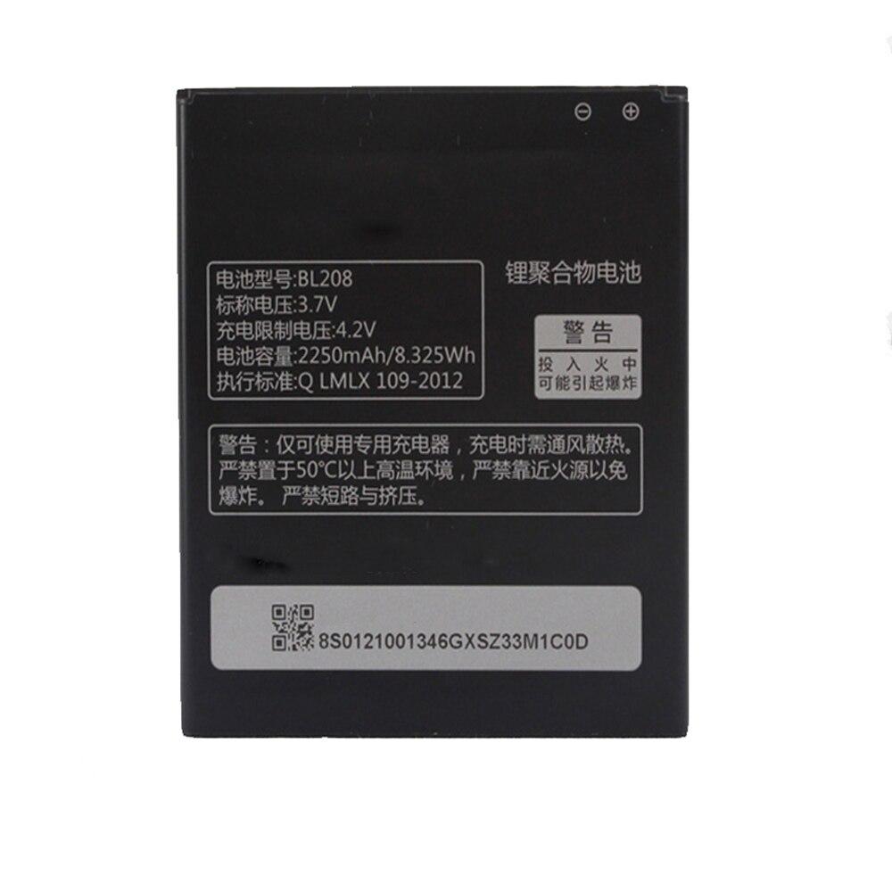 5 unids/lote 2250mAh BL208 batería de repuesto para la batería de Lenovo S920 A616 A690E BL 208 teléfono móvil