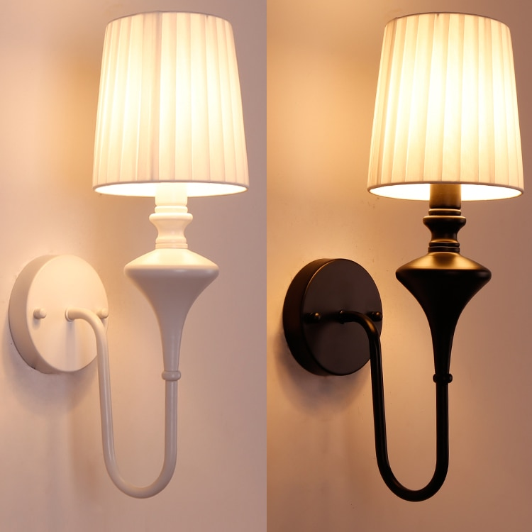estilo simples de ferro forjado escadas sala de estar do quarto do vintage lampada