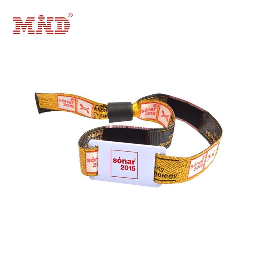 1000 pcs lote 1356 mhz fm11rf08 mf1 s50 1 k nfc pulseira rfid ic nailon tecido pulseira