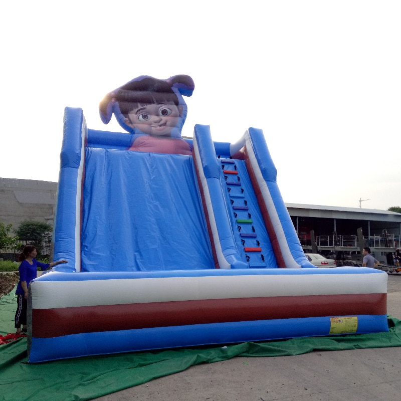Air jumping inflatable slide bouncy slide inflatable trampoline slide  Castle bouncer for children yard bouncy castle inflatable jumping castles 3 5 3 2 7m trampoline for children house inflatable bouncer with slide blower
