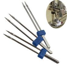 Aiguilles à coudre doubles jumelées 3 pièces   Kit industriel mixte universel, accessoires pour machines à coudre taille 2.0/9 0 3.0/90 4.0/90