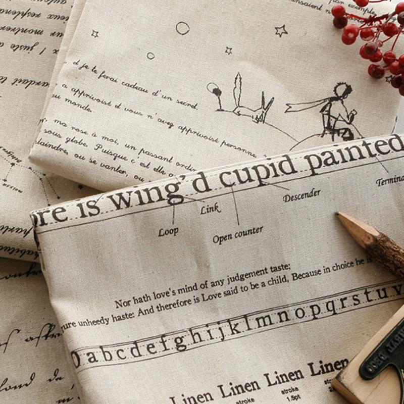 Английская ткань для обивки букв, хлопковая и льняная ткань по метрам для DIY дивана, подушки, скатерть, льняная ткань