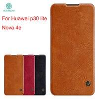 For Huawei P30 lite Case Cover NILLKIN PU Leather Flip Case For Huawei P30 lite/nova 4e Cover High Quality Flip Phone Case