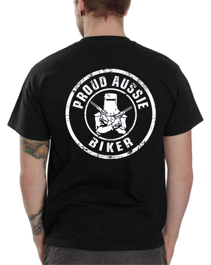 ¡Novedad de 2019! Camiseta Hipster Casual de manga corta, camiseta hípster Fractal con orgullo de motociclista australiano, Camiseta de algodón para 100% de carreras de café