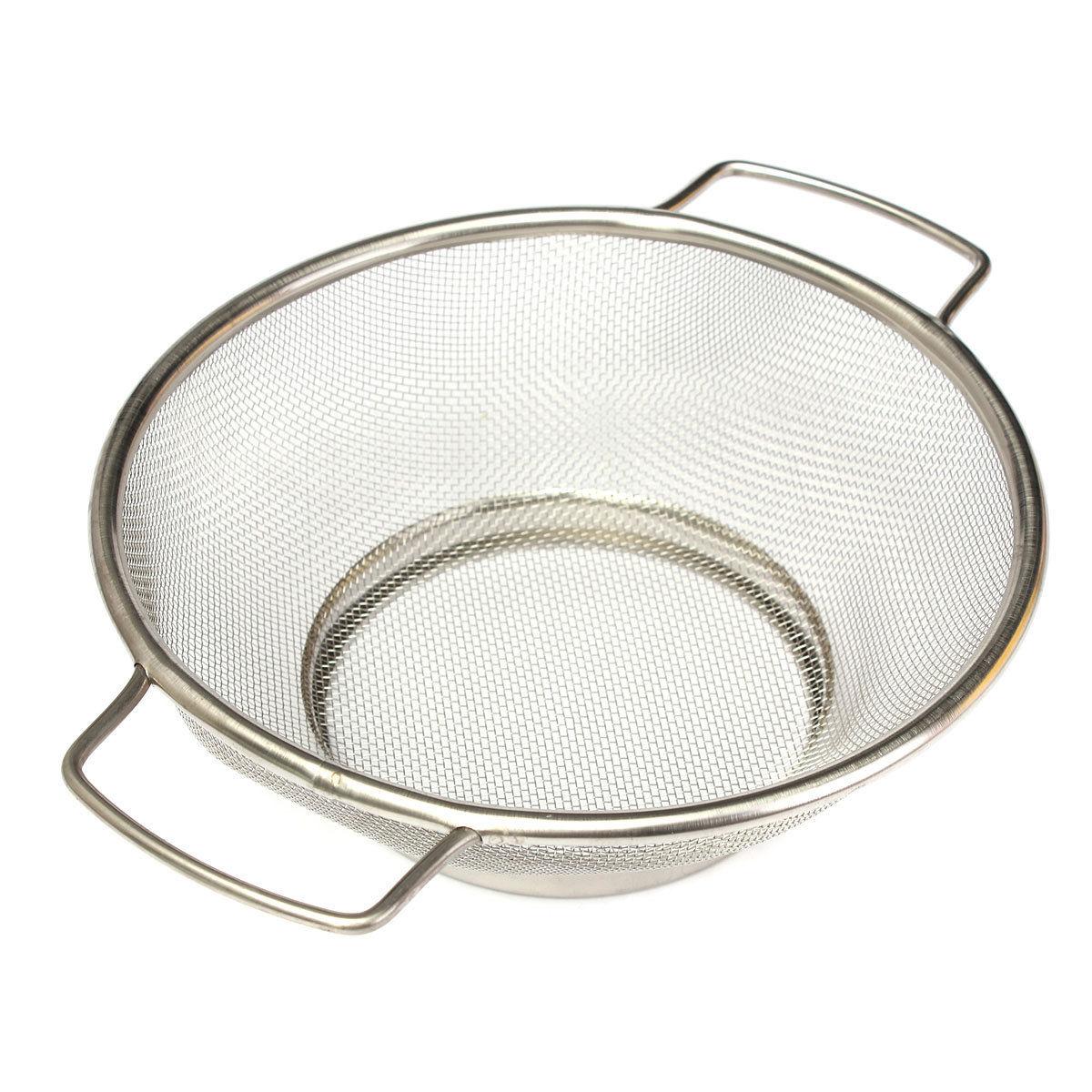 Hot saleStainless Steel Fine Mesh Strainer Bowl Drainer Vegetable Sieve Colander Sifter