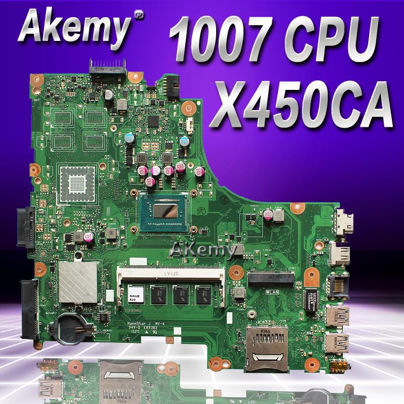 Akemy para Asus X450CC X450CA placa base con memoria 1007U cpu 2GB