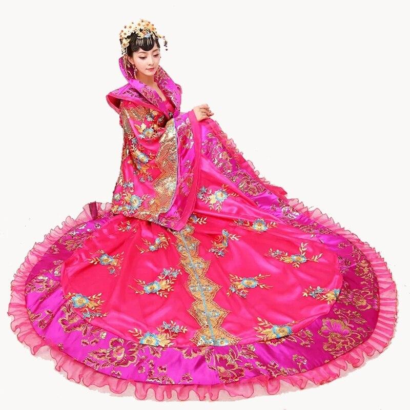 Traje de reina de la dinastía Tang Slap-up, traje formal noble, disfraz de Hada, vestido femenino chino antiguo Hanfu show, envío gratis