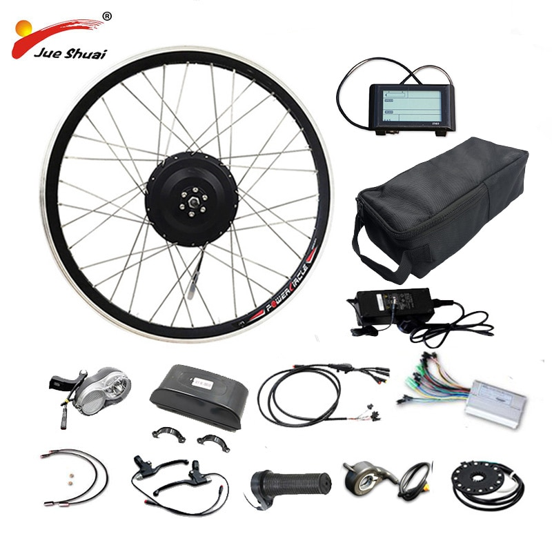 Kit de conversión de bicicleta eléctrica, 48V, 500W, 48V, 16Ah/20AH/LG26A, batería sin...