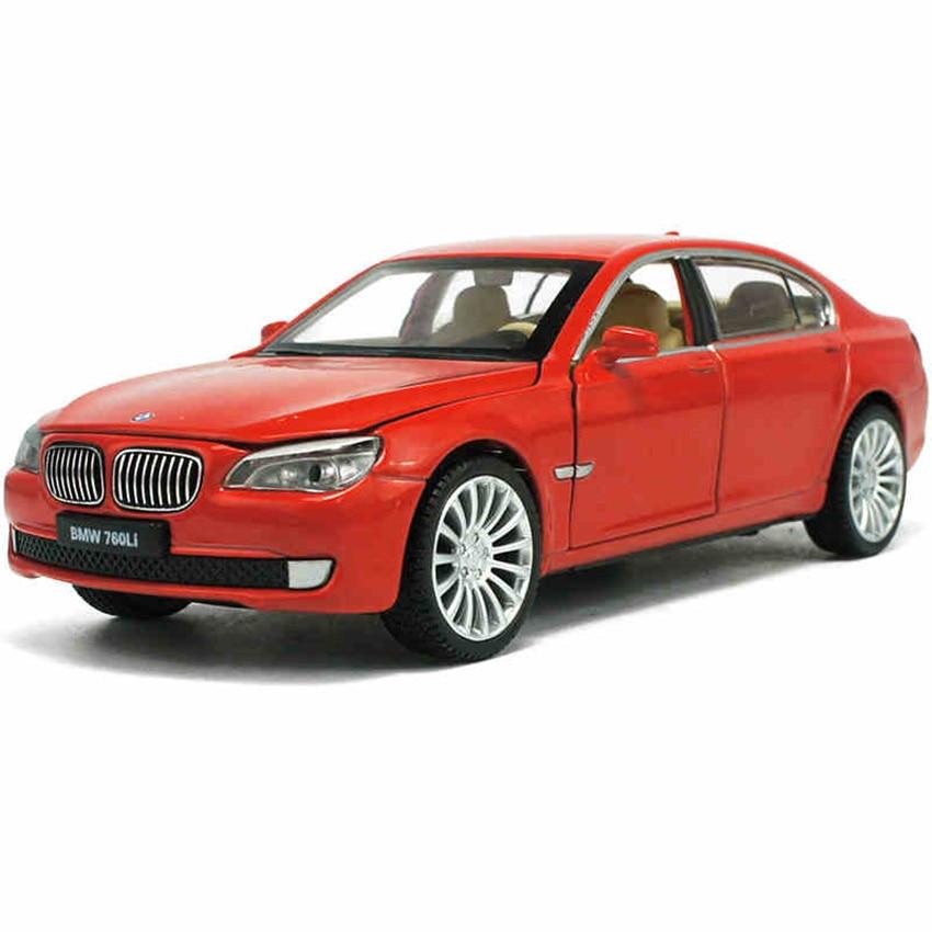 Игрушка купе 760Li, модель автомобиля из сплава, детские игрушки, настоящая коллекция лицензионных прав, имитация в подарок, внедорожный автомобиль для мальчиков, 1:32