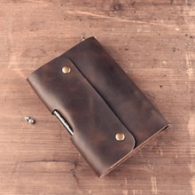 Paperboat Vintage Logo personnalisé A5 cahier en cuir véritable Mini A6 agenda planificateur anneaux bureau journal spirale voyageurs bloc-notes