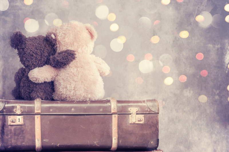 Retri Viaje Funda oso fondo para fotografía punto de luz foto fondos para Recién Nacido 150*200 cm Día de San Valentín fondo
