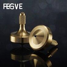 FEGVE Mini Gyro Fidget Spinner Hand Spinner Tainless Stahl Metall Keramik Perlen Schwarz Gold Silber Gyro Spielzeug FG35