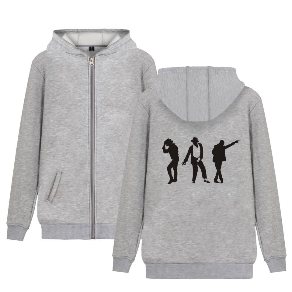 Michael Jackson Moonwalk Silhouette fashion hip hop men women zipper hoodies jackets Sweatshirts zip up long sleeve hooded tops