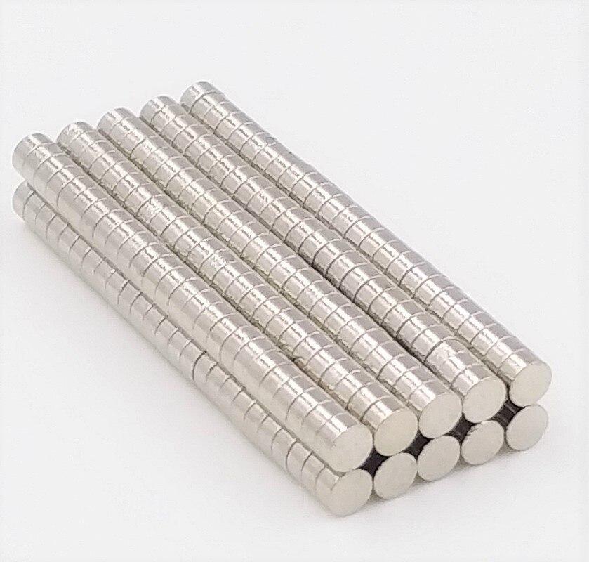50 Uds 2x1mm N35 imán fuerte de neodimio imanes permanentes de tierras raras para arte artesanal 2*1mm