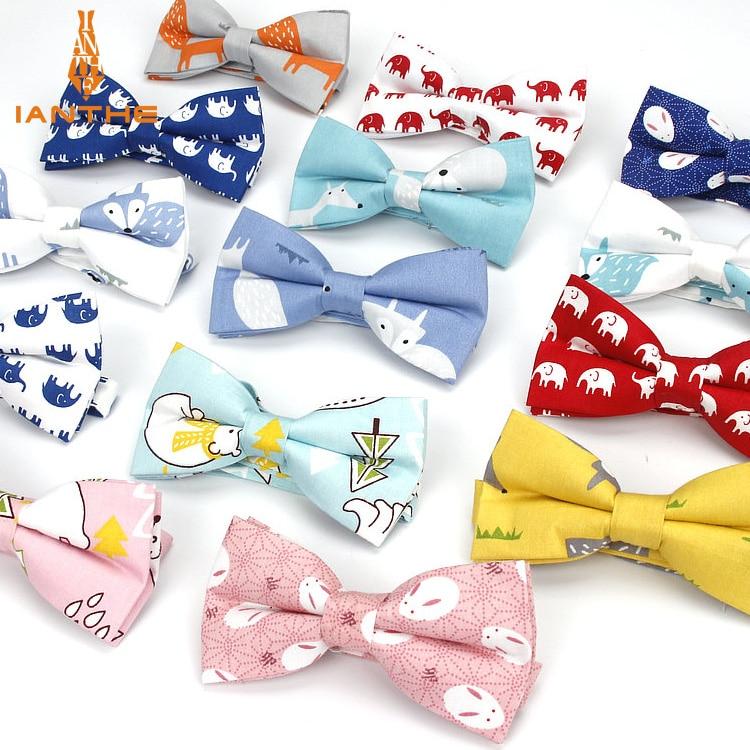 Degli Uomini di Marca New Formale Al 100% in Cotone Vintage Animale Volpe Bow Tie Hanky Farfalla Bowtie Tuxedo Elefante Bowtiesparty Tasca Piazze