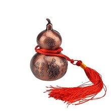 Feng Shui-Bracelet gourde en laiton   Wu Lou/ Hu Lu avec cordon rouge + String rouge gratuit U1109