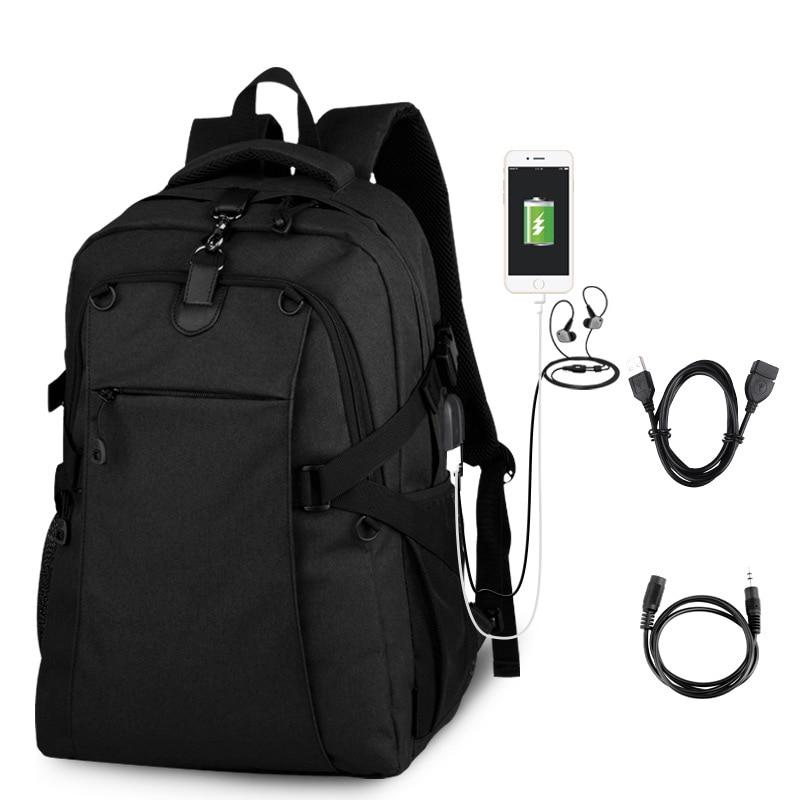 Mochila de lujo para hombre, a la moda, para adolescentes, con carga USB, negra, Vintage, para Notebook, conjunto de mochila para portátil, mochila escolar para adolescente, sac a dos mujeres