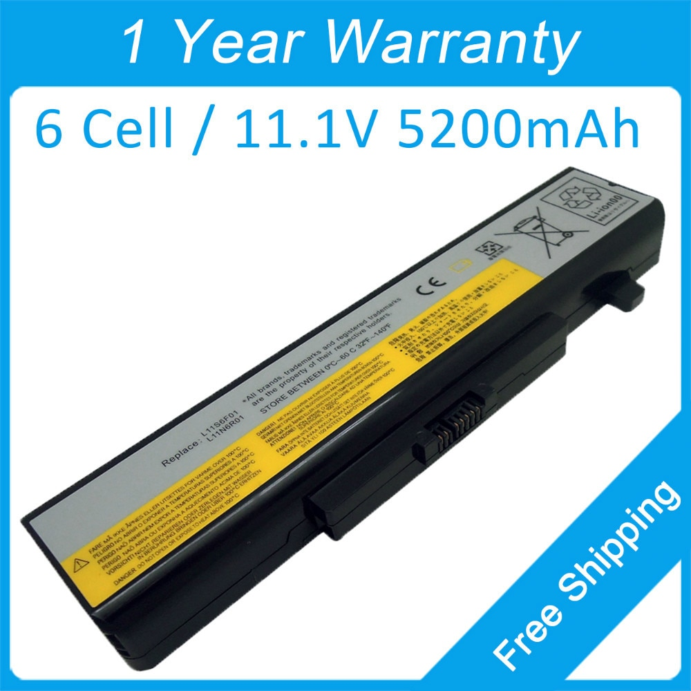 Nueva 6 celdas de batería para portátil lenovo ideapad y580 g580 z485 z585 y480 y480p y485n y580p l11p6r01 l11m6y01 l11o6y01 121500049