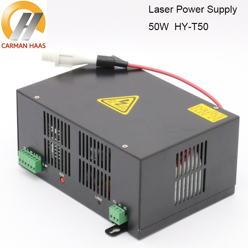 Carmanhaas 50W CO2 Laser Power Supply for CO2 Laser Engraving Cutting Machine HY-T50 enlarge