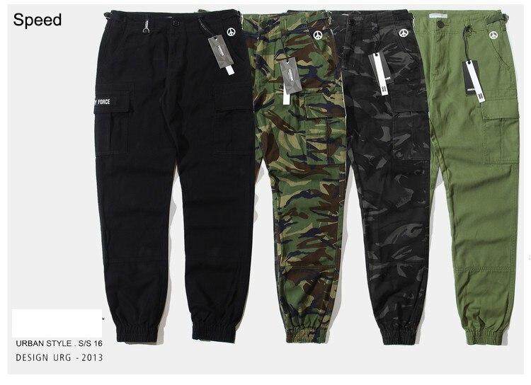 Pantalones de skateboards de velocidad cargo para correr para hombres pantalones de camuflaje militar Camuflaje militar joggers chino