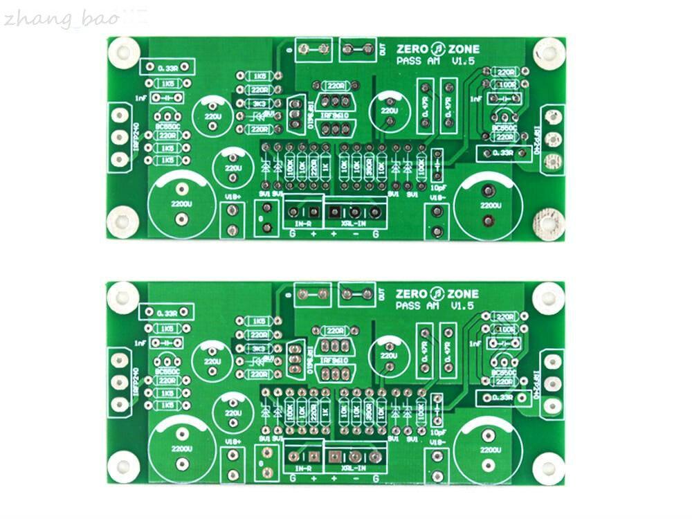 Envío GRATIS un par PASS-AM V15 Clase A 10W amplificador de potencia PCB desnudo amplificador PCB