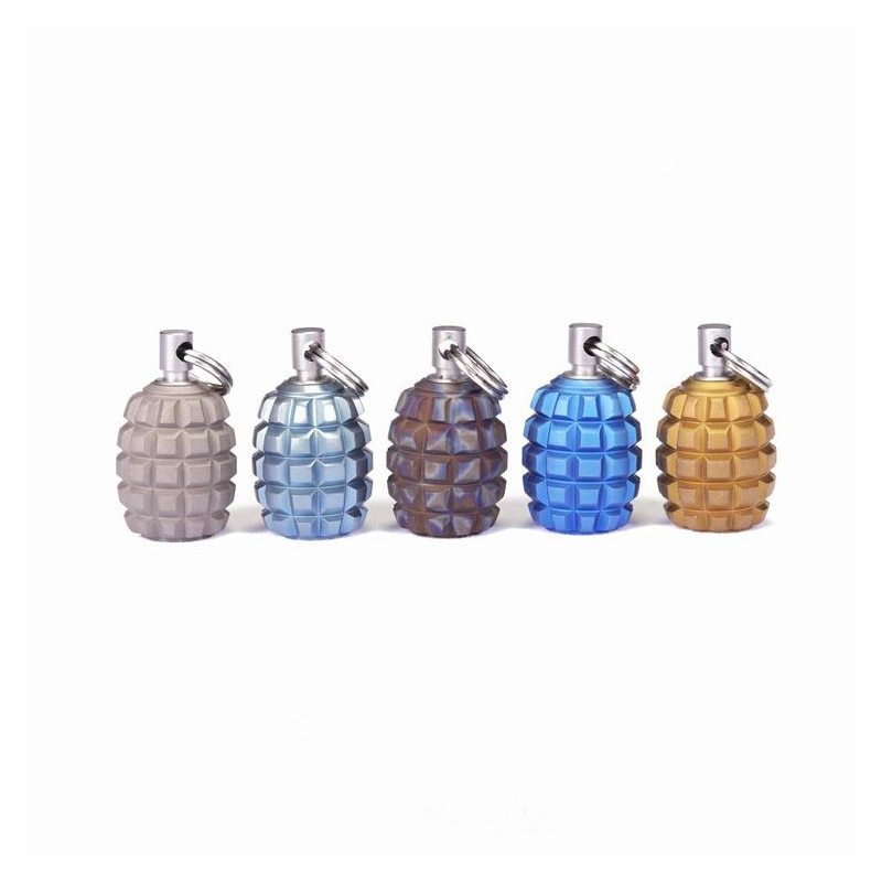 1PC Mini Grenade Shape Titanium Alloy Knife Beads Lanyard Pendant With Toothpick Fingertip Toys Begleri EDC Multi-tool Pendant