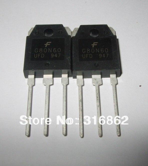G80N60 commutateurs 80A 600V IGBT   Transistor TO-247 10 pièces/lot, livraison gratuite, module de diodes transistor