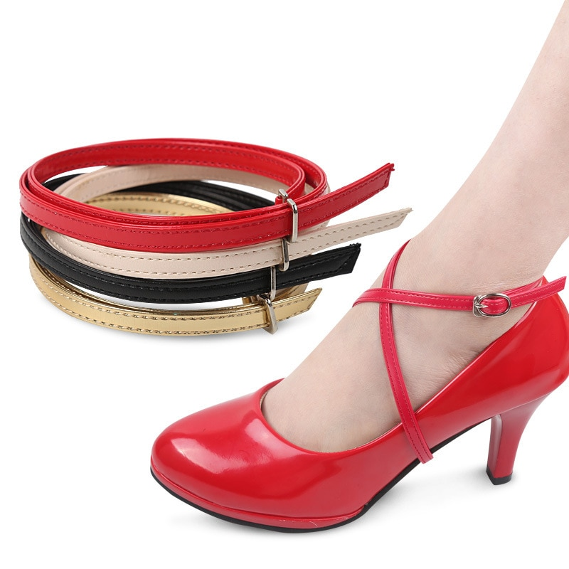 Correas cruzadas de tobillo de 58CM de alta calidad ajustables para zapatos de tacón alto Bandas de Cordón cinturón de boda exterior Universal