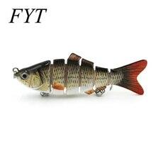 Leurre de pêche réaliste 6 segments Swimbait appâts durs appât lent 18g 10 cm avec 6 # matériel de pêche crochet