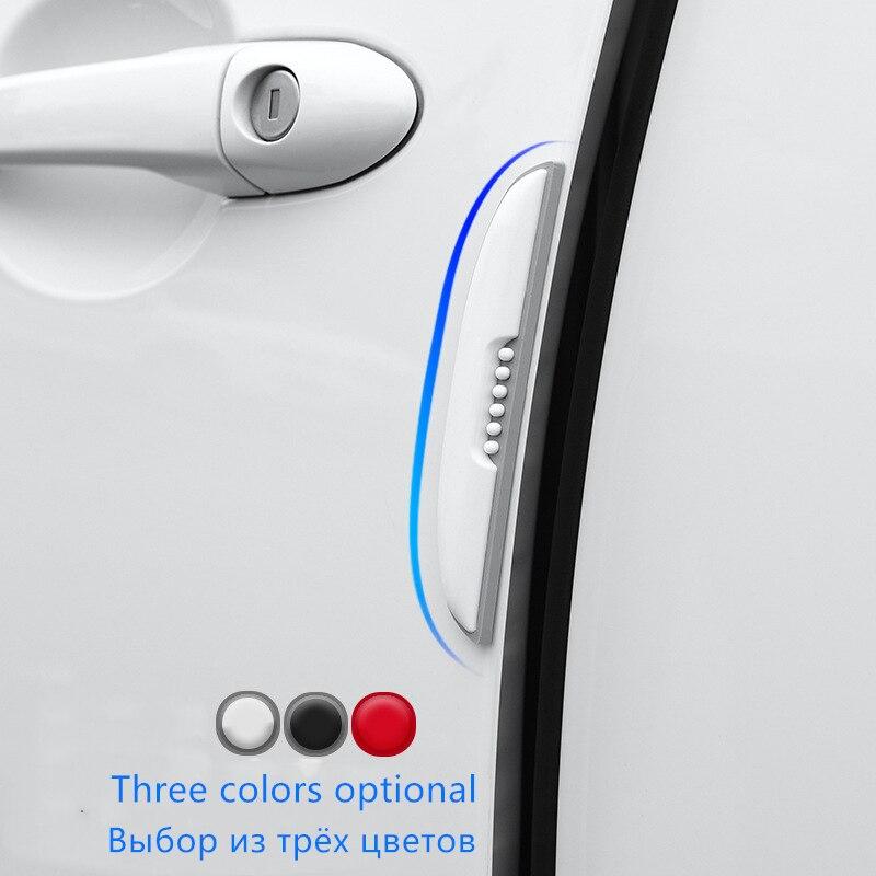 4 teile/satz Auto Anti-Kollision Streifen Auto Tür Rückspiegel Auto Aufkleber Auto Anti-Scratch-Schutz Film