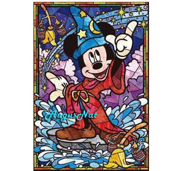 Pintura de diamante mickey mouse dibujos animados arte de la pared de diamante bordado kits niños pintura juguetes mosaico pintura de bordado regalos