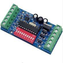Meilleur prix livraison gratuite 1 pcs/lot DC5V-24V MINI-DMX-3CH décodeur pour led RGB contrôleur led bande lumières bande DMX 512 console