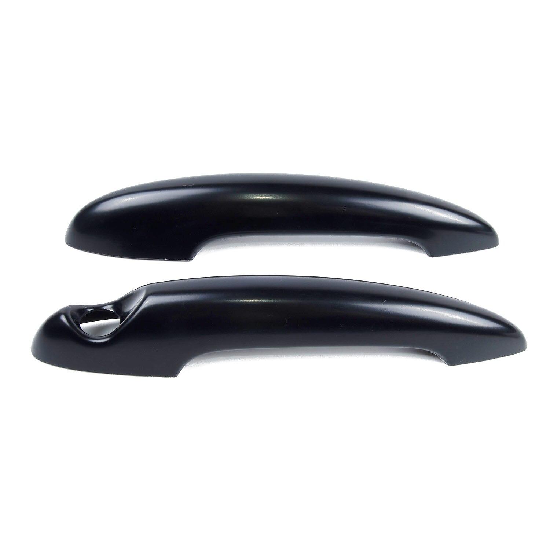 Cubierta de manija de decoración de puerta, negra, Interior, 2 uds. Para BMW MINI Cooper S R50 R53 R56, un par, práctico, útil, nuevo, caliente