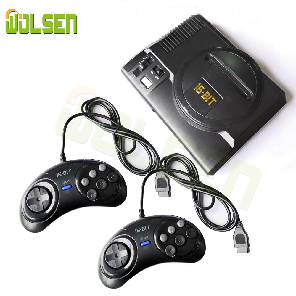 WOLSEN Mini videojuego de 16 bits consola AV salida Super Mini consola de juegos portátil construido en 208 juegos
