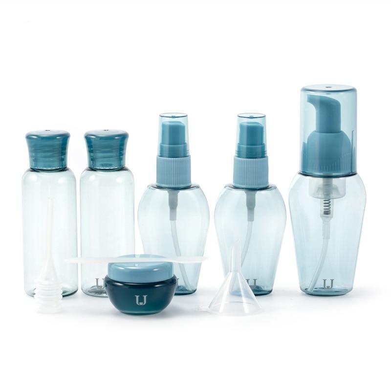 Refillable Bottle Travel Set Foam Pump Sprayer Atomizer Cream Jar Mask Sticker Dropper Portable Travel Containers P226