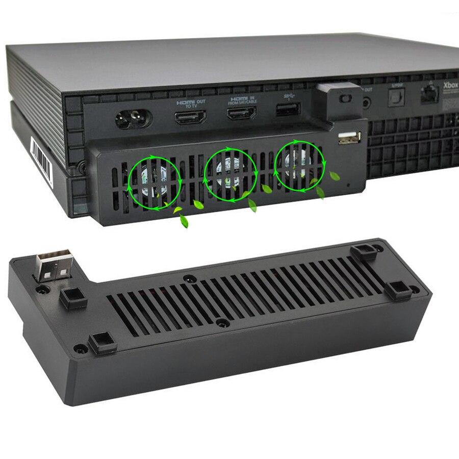 Охлаждающий вентилятор USB Cooler для Xbox One X, внешний 3-вентилятор Super Turbo с контролем температуры, охлаждающий вентилятор для XBOX ONE X