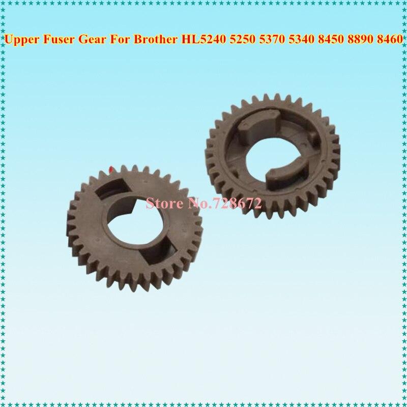 34T HL5240 20pcs Engrenagem Do Rolo Fusor Superior Compatível Para Brother HL 5240 5250 5370 5340 8450 8080 8890 8460 Printer