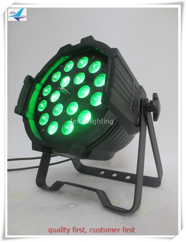 2/lot DMX Par Can DJ Uplighting Led spotlights par 18x18w rgbwa uv 6 in 1 led par zoom