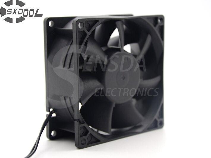 SXDOOL EC fabricantes de motores de ventilador 92*92*38mm 92mm doble voltaje 115V 230V 50/60Hz 7W 3500RPM 79.9CFM ventilador de refrigeración de la Caja